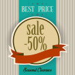 Best price label in vintage style — Stock Photo