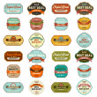 Set of vintage retro labels — Stock Photo