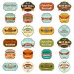 Set of vintage retro labels — Stock Photo