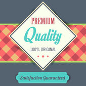 Premium Quality poster, retro vintage design — Stock Photo