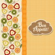 Bon appetite card with fruits — Lizenzfreies Foto