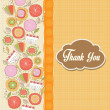 Romantic Thank You card with flowers — Stock Photo