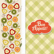 Bon appetite card with fruits — Stock Photo #32599241