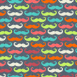 Retro seamless pattern with mustache — Stock fotografie