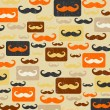 Retro seamless pattern with mustache — Stock Photo
