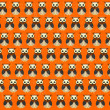 Retro seamless pattern with owls — Stock Photo