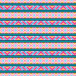 Seamless ethnic pattern — Stock Photo