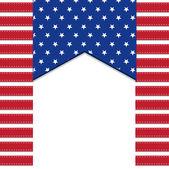 Americká vlajka pozadí — Stock vektor