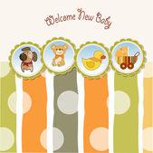 Yeni bebek duyuru kart — Stok Vektör