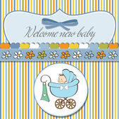 Welcome new baby boy — Stock Vector