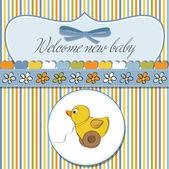 ¡ Bienvenido nuevo bebé varón — Vector de stock
