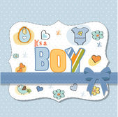 Baby boy shower card — Stock Vector