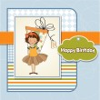 Vector de stock : Girl hide big gift