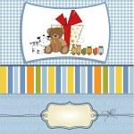 Card with cute teddy bear — Stock Vector #37727483