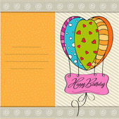 Happy birthday card with balloons. — Stock Vector