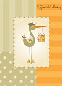 Card with stork — Stock Vector