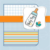 Card with bottle milk — Vector de stock