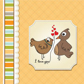 Love birds — Vector de stock