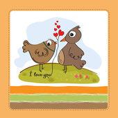 Love birds — Vettoriale Stock