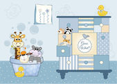 Animal baby shower — Stock Vector
