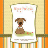 Card with puppy — Stock Vector