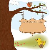 Cartão do anúncio bebê chuveiro — Vetorial Stock
