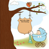 Baby shower announcement card — Stock Vector