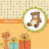 Baby douche kaart — Stockvector