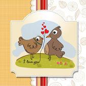 Pássaros do amor, romântico — Vetorial Stock