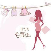 妊娠中の女性 — ストックベクタ
