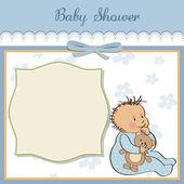 Baby dusch-kort — Stockvektor