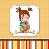 Girl teddy bear — Stock Vector