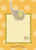 Baby shower greeting card — Stock Vector