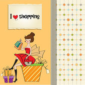 Woman shopping — Stock Vector