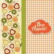 Bon appetite card with fruits — Stock Vector #37812309