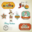 Christmas decorative elements and labels — Stock Vector