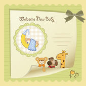 Welcome baby card — Vettoriale Stock