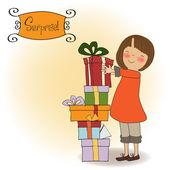 Caixa de presente de Natal — Vetor de Stock