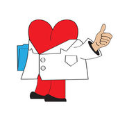 Cartoon doctor heart — Stockvektor