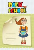 Funny schoolgirl — Stock Vector