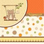 Card with teddy bear — Stock Vector #37921159