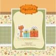 New baby announcement card — Stock Vector