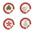 Christmas labels — Stock Vector #37926531