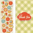 Thank You card — Stock Vector #37927233