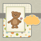 Card with teddy bear — Stock Vector