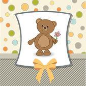 Card with teddy bear — Stock Vector