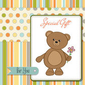 Karte mit teddybär — Stockvektor