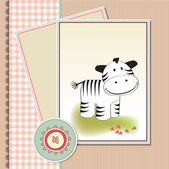Welcome baby card — Stock Vector