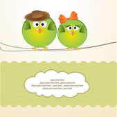 Birds couple in love — Vetorial Stock