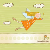 Little fairy birthday card — Stockvector